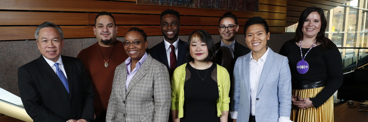Group photo of VP Michael Goh and the 2018 SEED Scholars