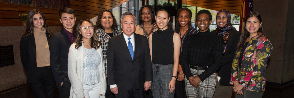 VP Michael Goh and the 2019 SEED Scholars